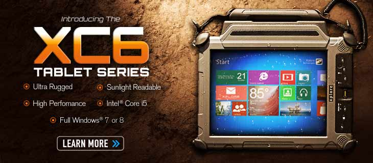 The XC6 Series of Ultra Rugged Sunlight Readable Tablets