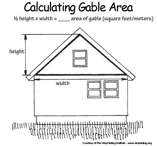 vinyl siding gable calculation