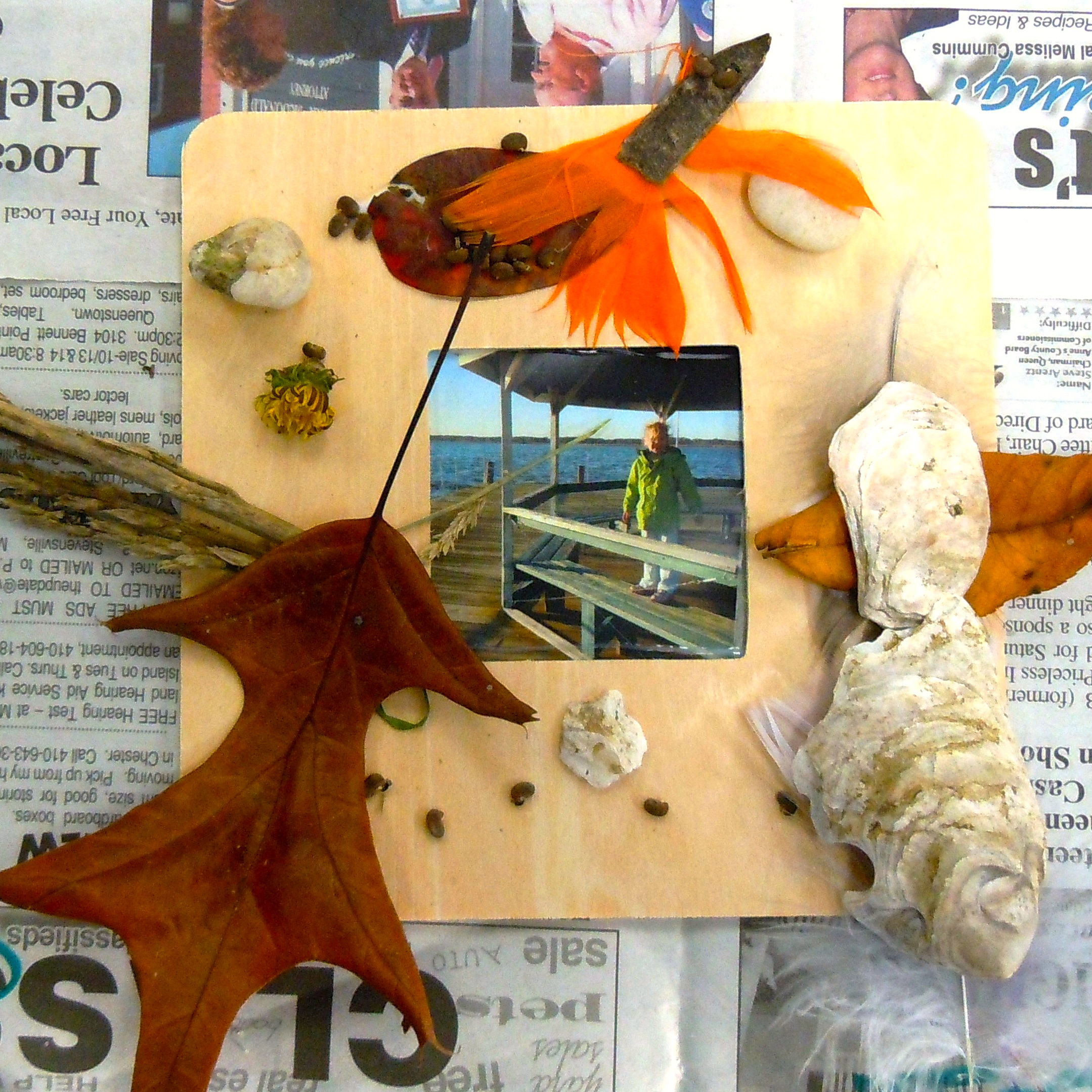 nature photo frame craft