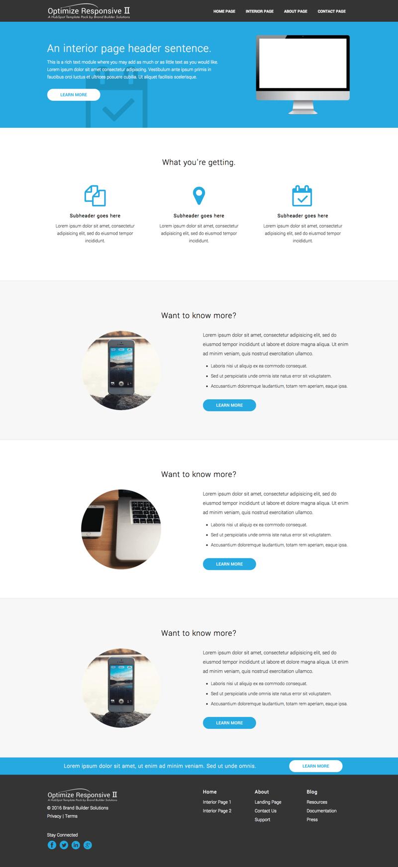 optimize responsive ii interior page 1. Black Bedroom Furniture Sets. Home Design Ideas