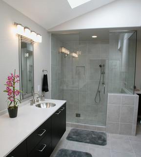 Enjoyable Contemporary Bathroom Remodel Ideas Largest Home Design Picture Inspirations Pitcheantrous