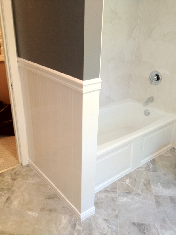 Acrylic Wainscoting Installed In One Day South Shore