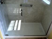 Shower replacement with hinge door for How much is a bathtub liner