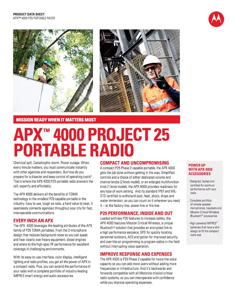 motorola apx 4000. download the motorola apx 4000 brochure apx