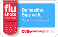 CVS Pharmacy Flu Shot eGift Cards