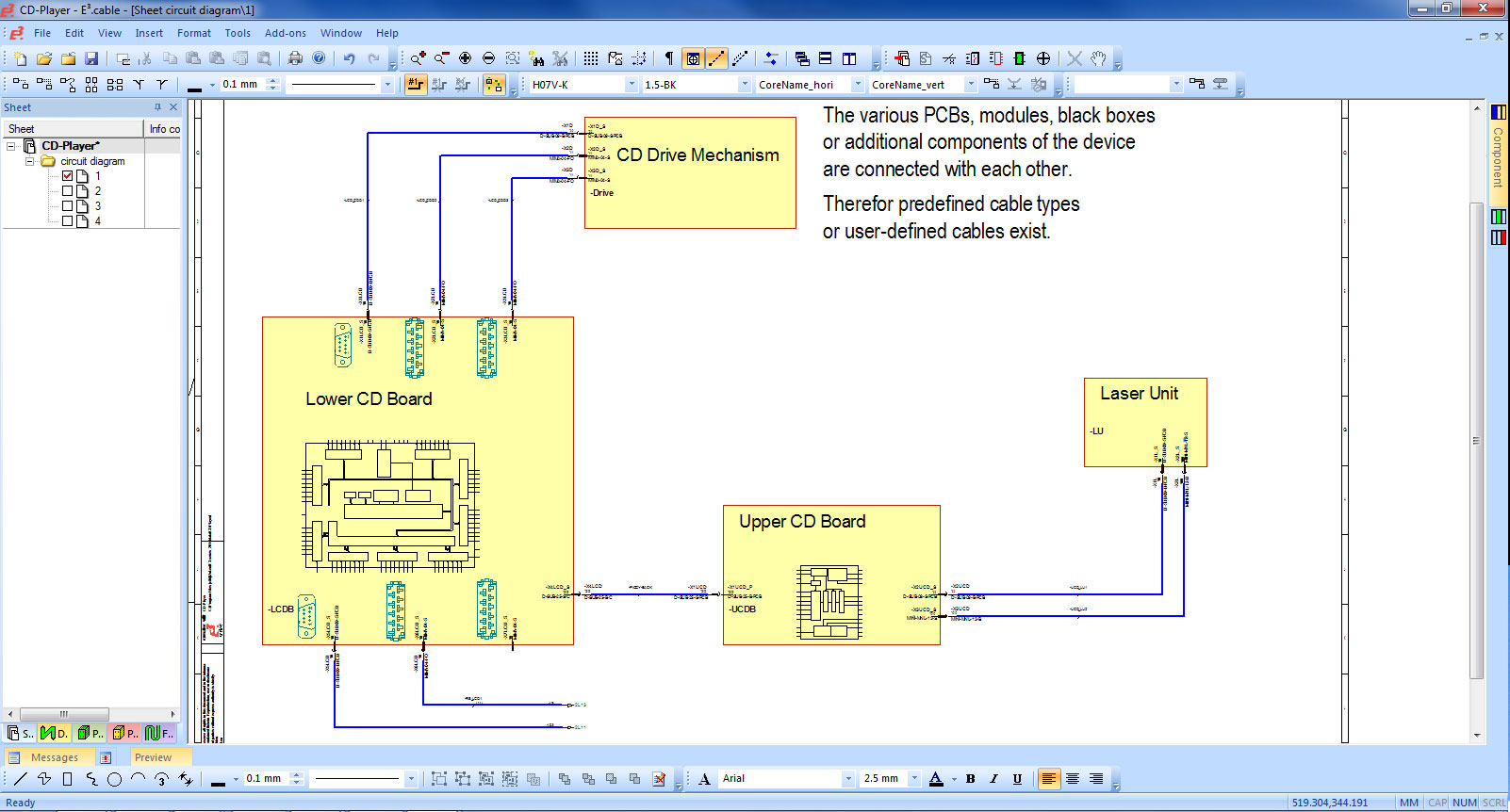 Electrical Harness Design Software ECable - Electrical and wire harness design