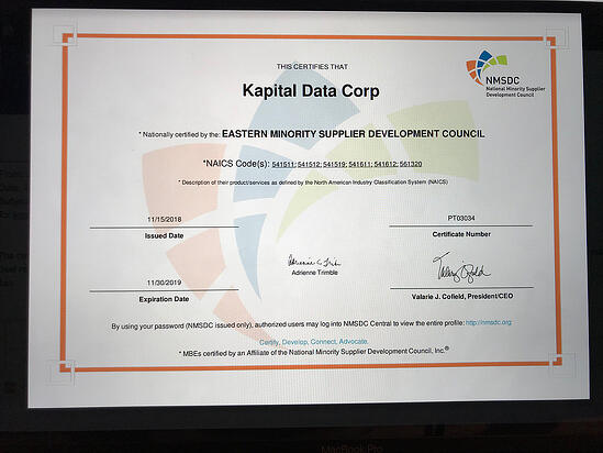 MBE Certified by NMSDC