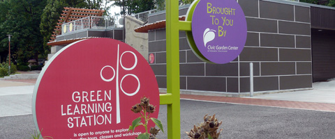 Green City Of The West   Cincinnati Green Building Signage Project Of The  Civic Garden Center