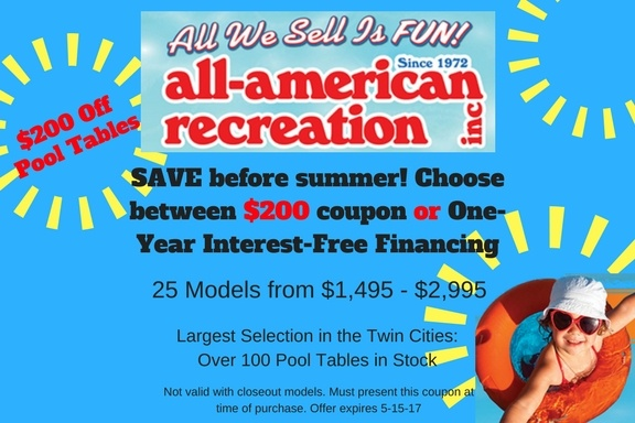 Twin Cities Pool Table Coupon