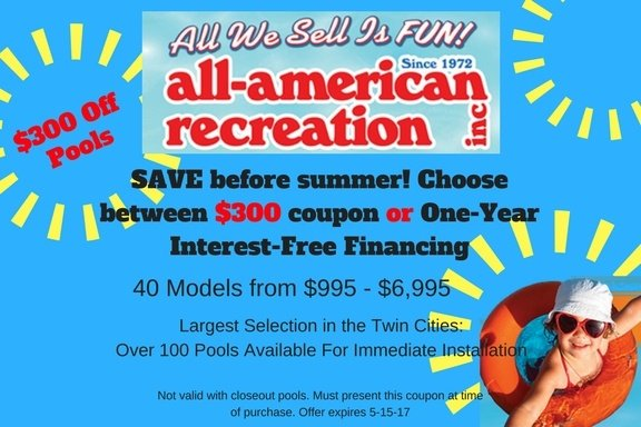 Twin Cities Above Ground Pool Coupon