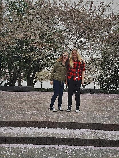 DC-Girls with cherry blossoms