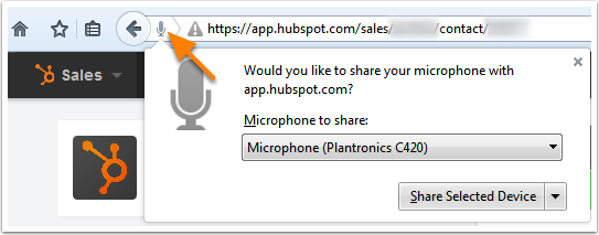 Hubspot Talk Settings Firefox 1