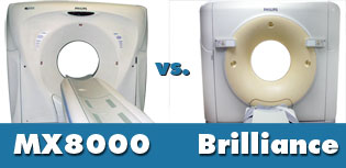 Philips CTs MX8000 vs Brilliance scanner