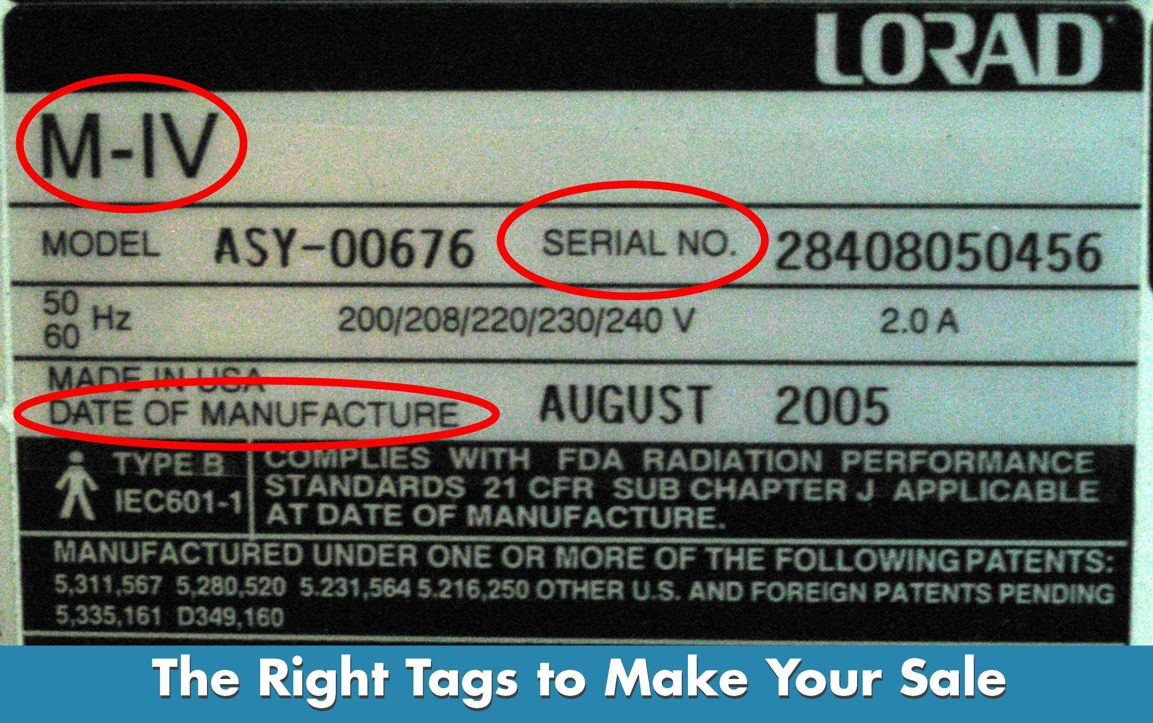Finding The Right Serial Tag On Your Medical Imaging