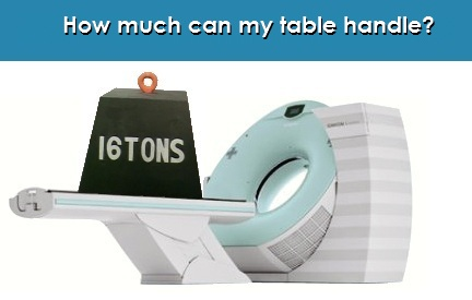 CT Table Weight Capacity