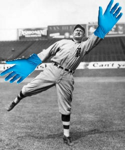 Latex Gloves Ty Cobb