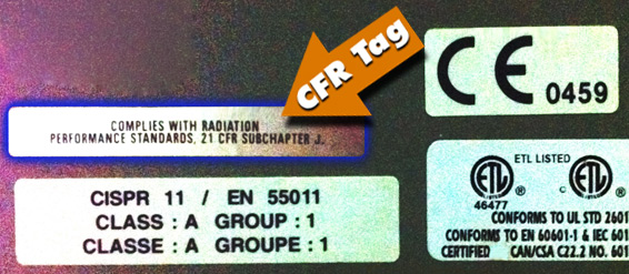 CT scanner CFR tag