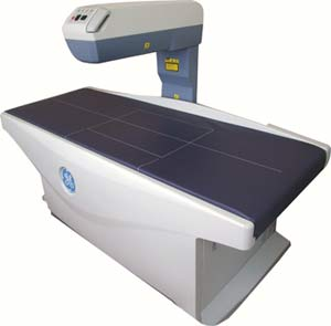fan beam bone densitometer