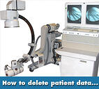 how to delete patient data