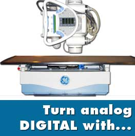 turn analog x ray into digital x ray system