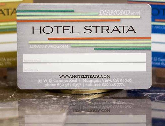 Example of hotel loyalty program cards