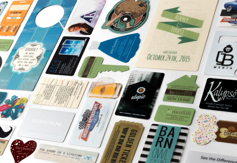 Plastic business card examples by Plastic Printers, Hastings Minnesota
