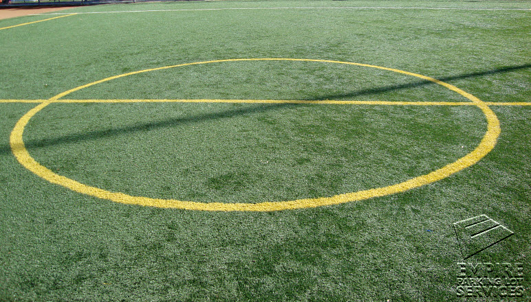 We can paint game courts on grass, concrete, asphalt, and many other surfaces. Call today and speak with an estimator.