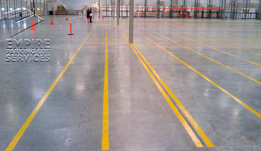 Empire offers a complete line of warehouse line striping and stencils.