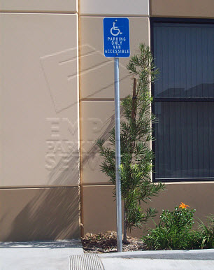Orange County Handicap Sign Installation Example