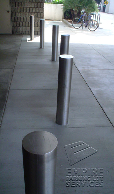 Los Angeles California Bollards Installed at Westfield Mall