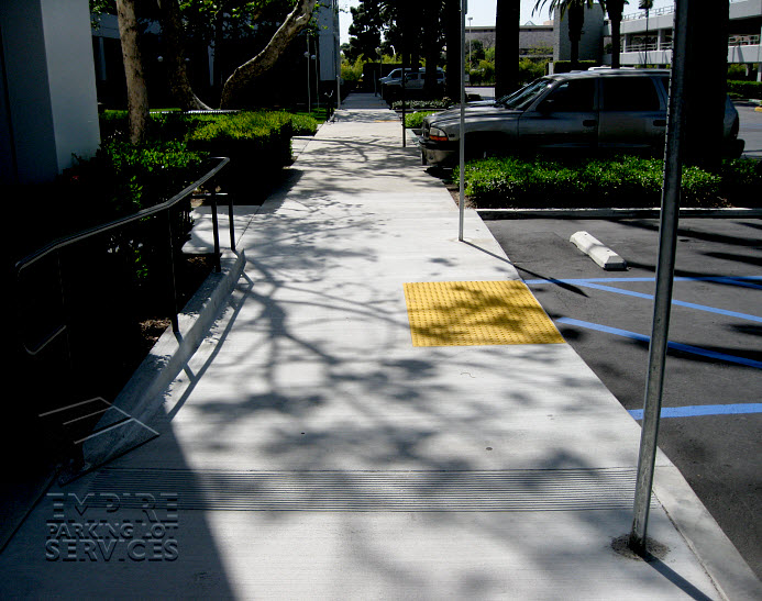 Ada Amp Handicap Compliance Striping Truncated Domes Amp Ramps