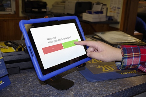 Customer Check-in Automotive Kiosk Ensures Accuracy