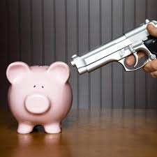 extort piggy