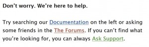 support documentation