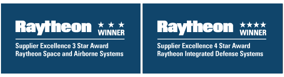 Raytheon Supplier Excellence 3 and 4 Star Award Winner