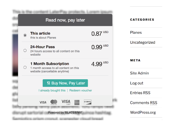 A better revenue alternative for Bloggers: LaterPay
