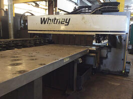 2012 Whitney 3400 XP CNC Punch/Plasma Plate Processing System (#3088)