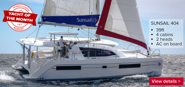 The Sunsail 404 is our Yacht of the Month