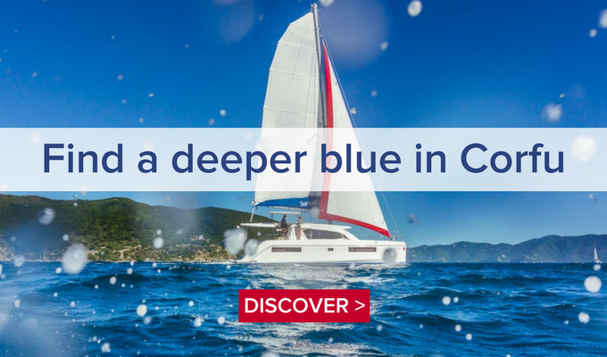Find a deeper blue in Corfu