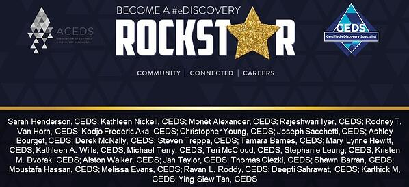 ACEDS Rockstar Month - January 2019