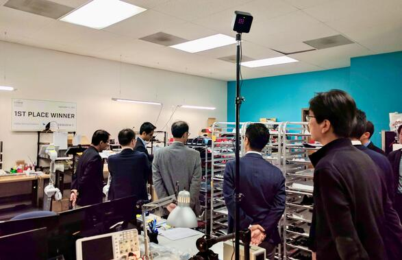 Japan Post visits OhmniLabs in Silicon Valley