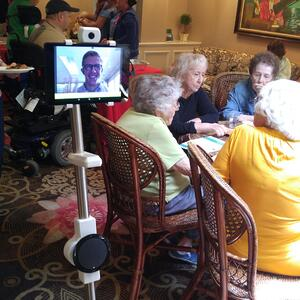 OhmniLabs Ohmni telepresence robots in senior communities