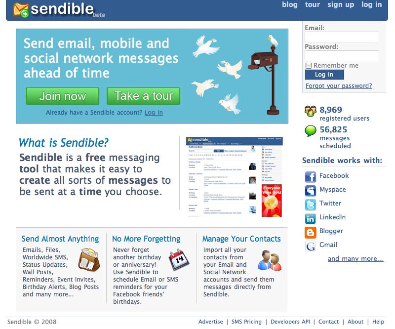 New Sendible Homepage