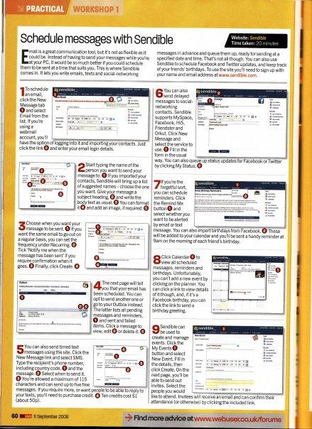 Sendible article published in Webuser Magazine