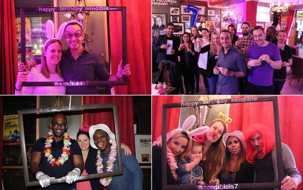 Team & Friends Celebrate Sendible's 7th Birthday