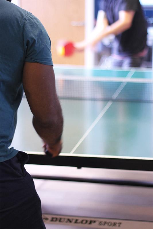 Sendible Playing Table Tennis
