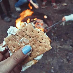 celebrate national s'mores day - photo by Autumn Mott Rodeheaver via unsplash
