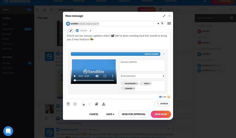 Native Video for LinkedIn Company Pages