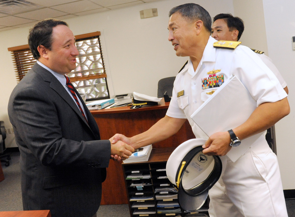 U.S. Navy Rear Admiral visits Marlin Steel to promote American manufacturing and free trade
