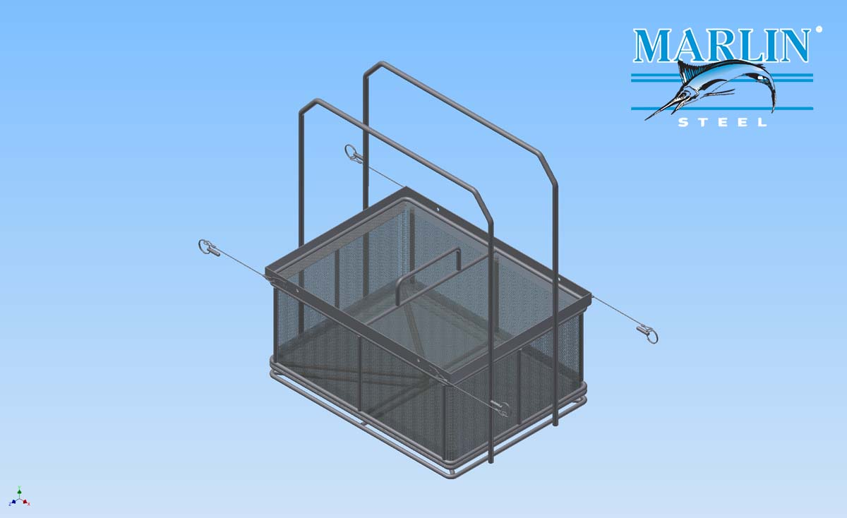 Electropolished Wire Mesh Basket with Handles